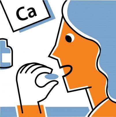 bigstock-Woman-Eating-Calcium-Supplemen-35865404